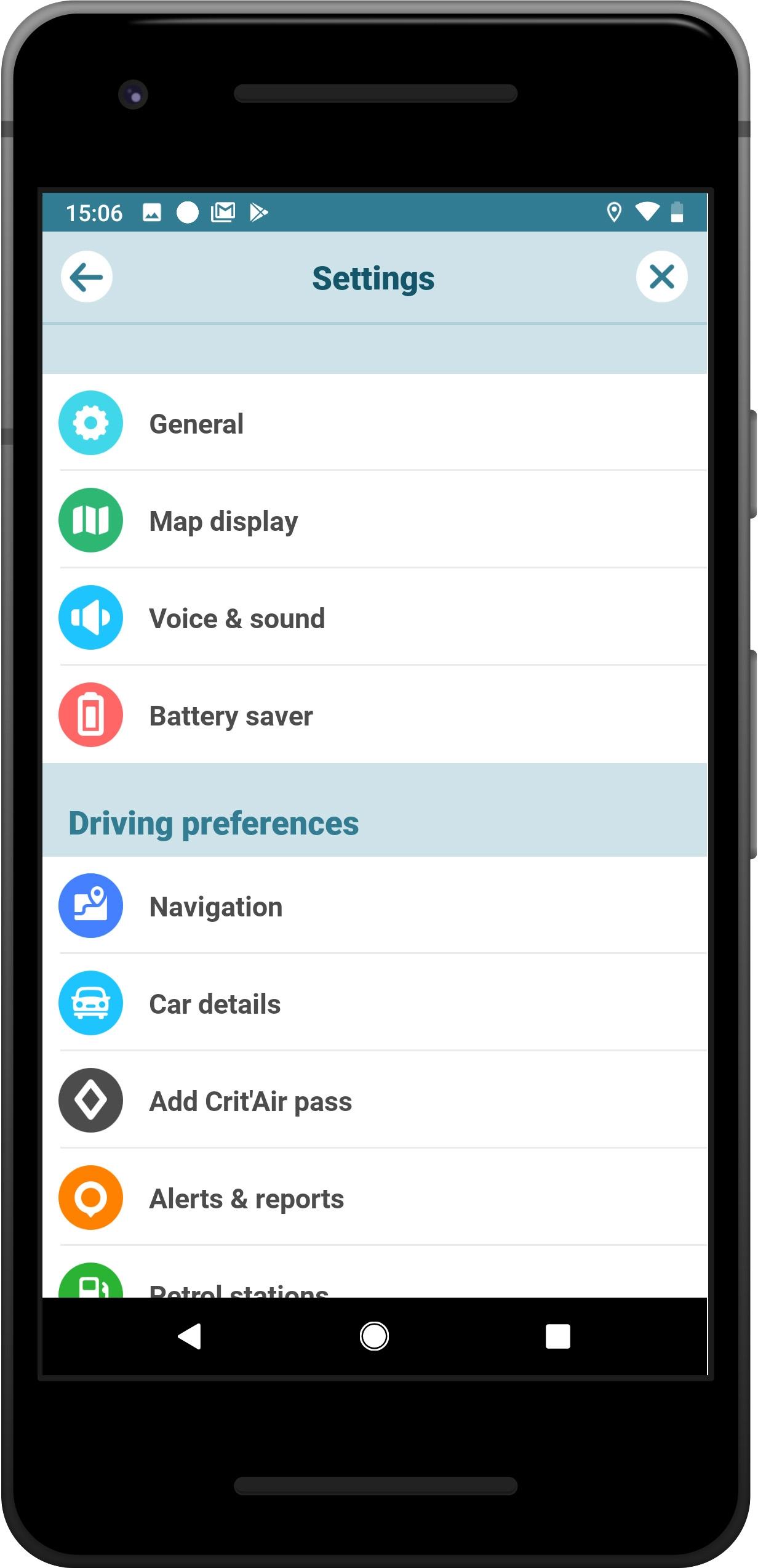 I dettagli del test sul navigatore WAZE GPS, Maps, Traffic