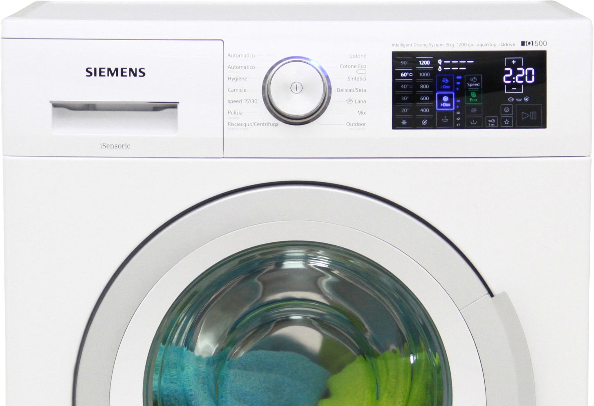 I dettagli del test sulla lavatrice SIEMENS WM12T608IT