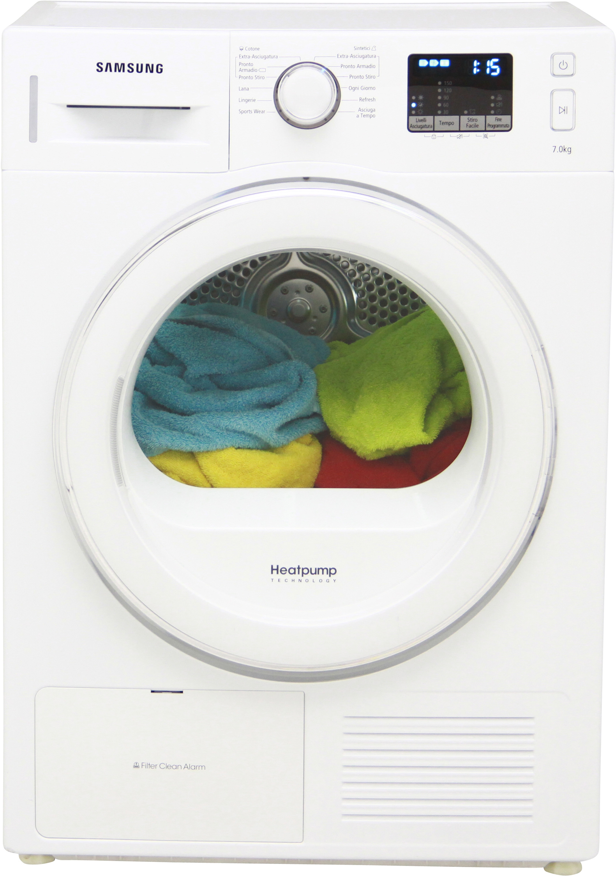 i dettagli del test sull'asciugatrice samsung dv70f5e2hgw