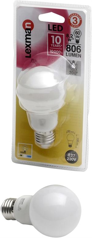 Lexman led 806 lumen for Lexman lampadine