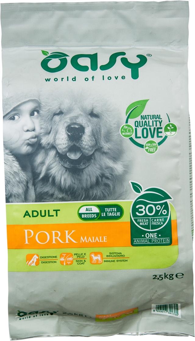 OASY Adult all breeds pork - 2,5Kg
